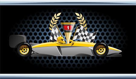 racing car.