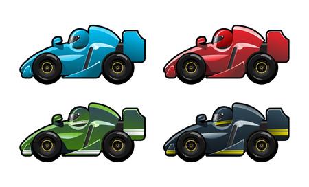 formula racing car Vector