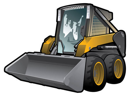 A small skid loader. Simple gradients only - no gradient mesh. Stock Vector - 6900583
