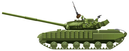 color illustration of  tank. (Simple gradients only - no gradient mesh.) Vector