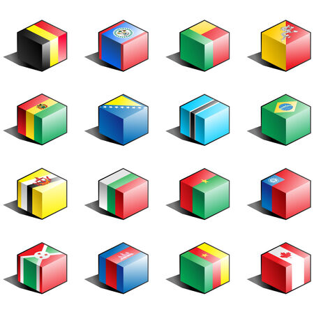 tridimensional: Flag icon set (part 2) Illustration