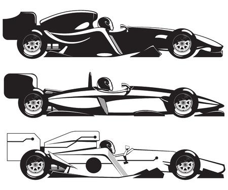 formula racing car Illustration