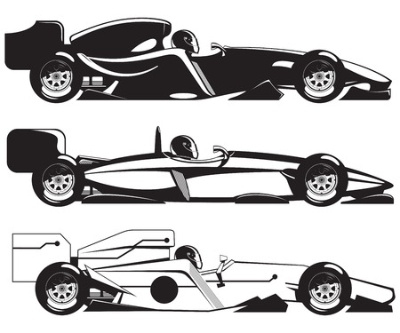 car side view: formula racing car Illustration