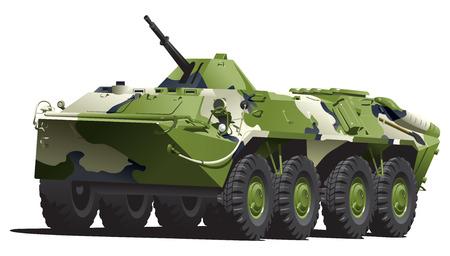 armored troop-carrier. Illustration