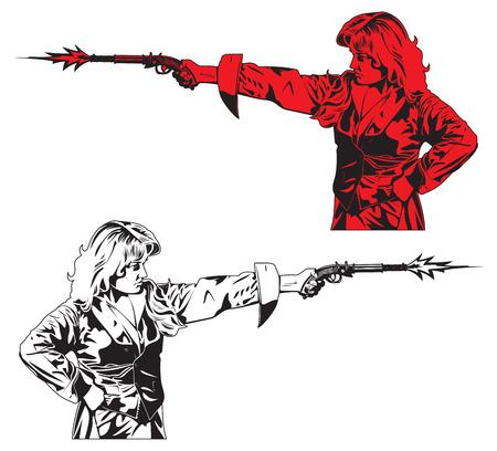 flint gun: personas con pistolas.