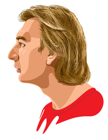 side: male profile Illustration