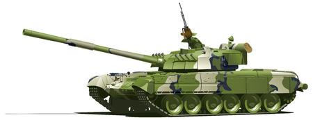 war tank: tanque pesado moderno  Vectores