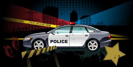 警察の車  イラスト・ベクター素材