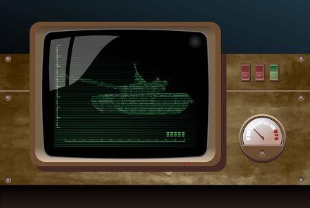 radar gun: pantalla de radar  Vectores