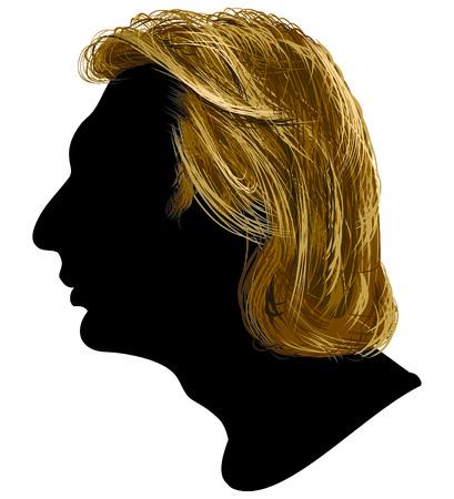 illustrazione del profilo di giovani uomini.  Vettoriali