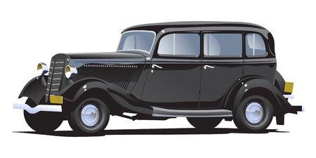 auto illustratie: Retro auto Stock Illustratie