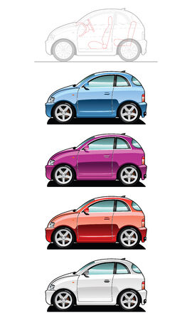smallest car Stock Vector - 7625721