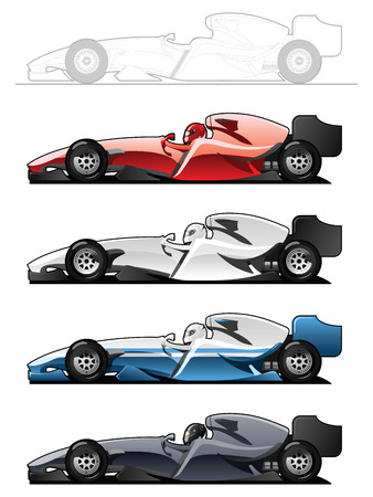 car side view: Racecars