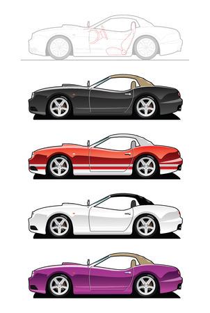 replica: replica car.