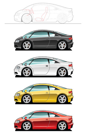 convertible: Sports car    Illustration