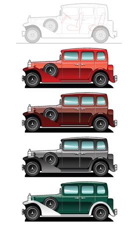 side: Vintage car