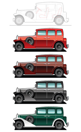 car side view: Vintage car