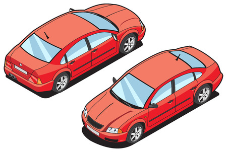 car side view: isometric image of a car
