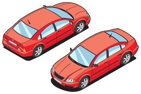 isom�trique: l'image isom?trique d'une voiture Illustration