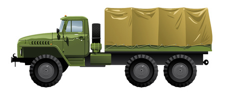 car side view: military truck