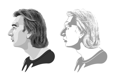 sideview: male profile Illustration