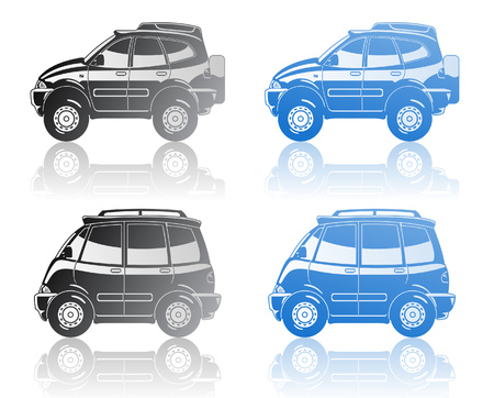 all-road vehicle and minivan Stock Vector - 8383852