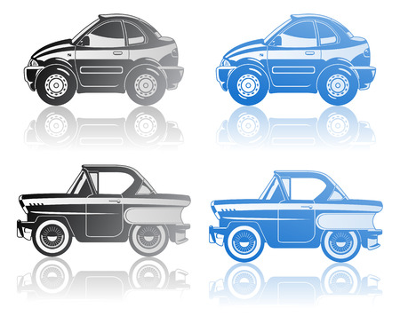 A Vector  illustration of modern coupe and Classic Car. Stock Vector - 8428061