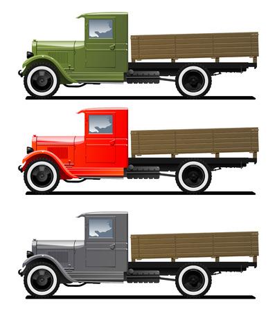 vintage truck 矢量图像