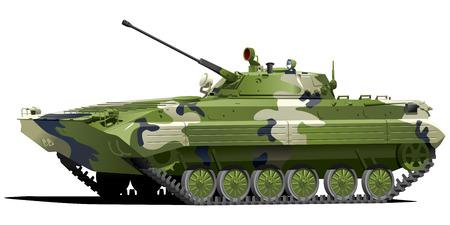 machine-gun: Infanterie bestrijding voertuig Stock Illustratie