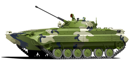 Infantry fighting vehicle Vectores