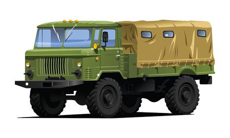 motor de carro: cami�n militar Vectores