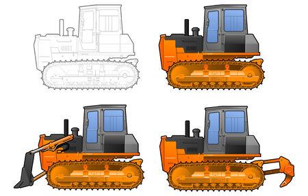 catterpillar tractor Stock Vector - 8953617