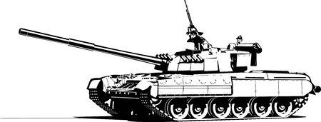 war tank: tanque pesado Vectores