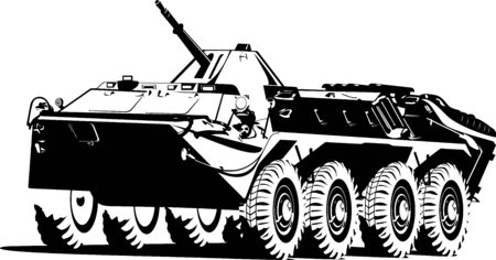 armored: armored troop-carrier. Illustration