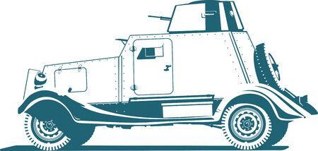 armored car: vintage armored car