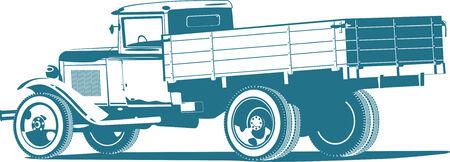 wartime: vintage truck Illustration