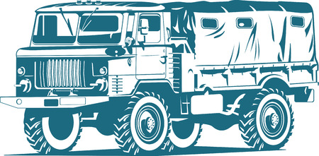 military truck Stock Vector - 9105877