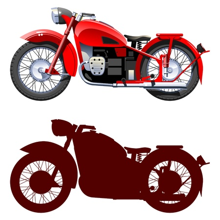 motorcycle.   Stock Vector - 9179994