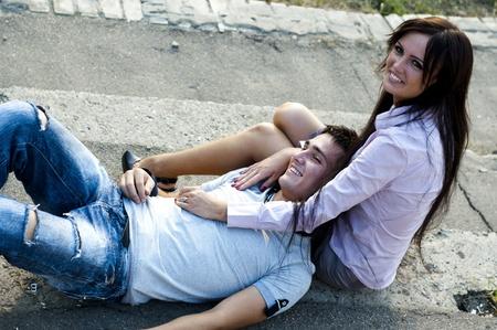 parejas de amor: las parejas Foto de archivo