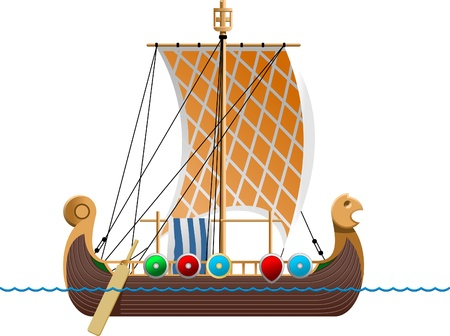 buckler: Viking ship