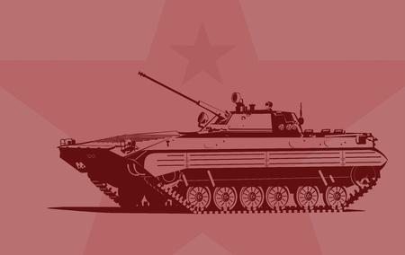 Infantry fighting vehicle Stock Vector - 9504315