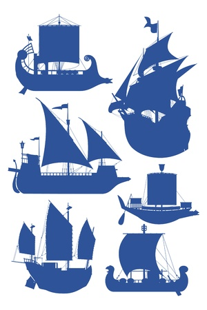sailing ships Stock Vector - 9504316