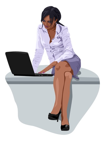 woman laptop: business woman