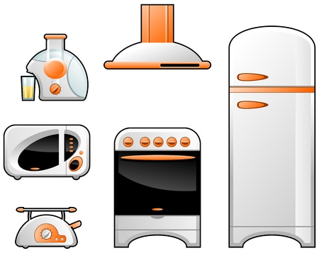microwave oven: household goods Illustration