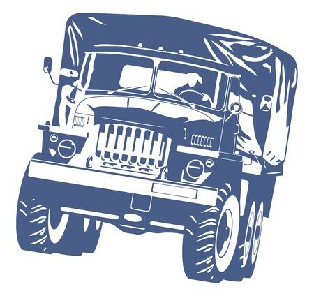 motor de carro: Camiones Fuera de Carretera Vectores