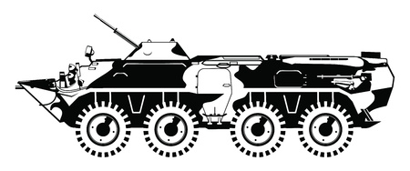 gunnery: armored troop-carrier. Illustration