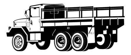 dropt-side truck Vector