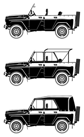 military draft: all-road vehicle  Illustration