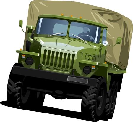 truck on highway:  off-highway truck Illustration
