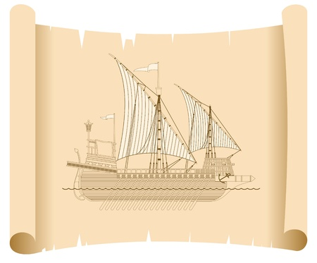 sailer: galley Illustration